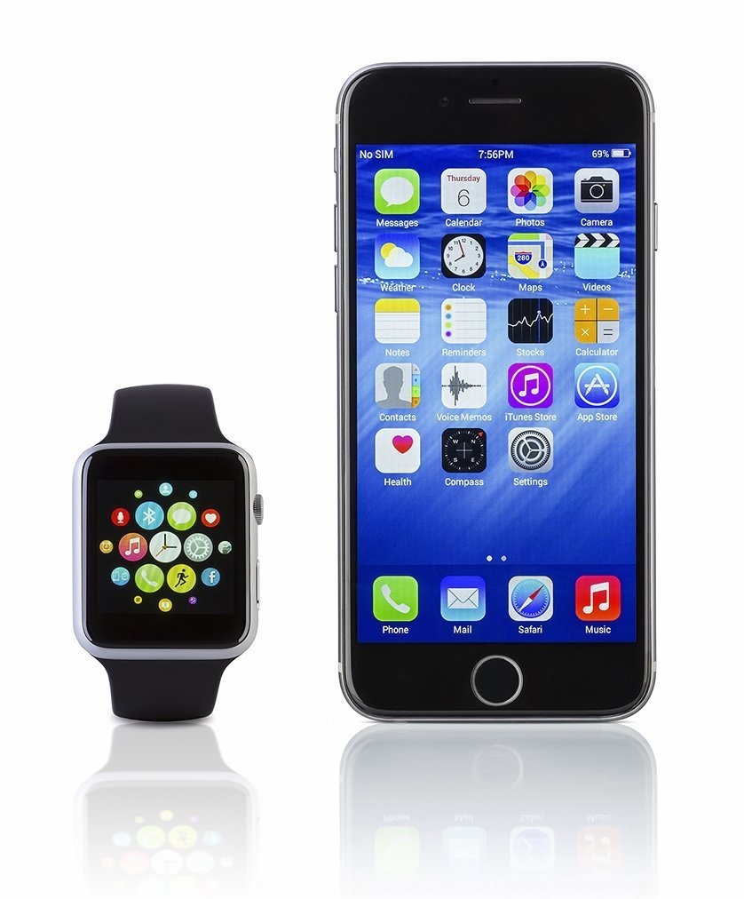 bigstock Apple Watch Sport With Iphone 119885489